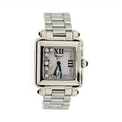 Chopard Happy Sport Square Stainless Steel Ladies Wristwatch