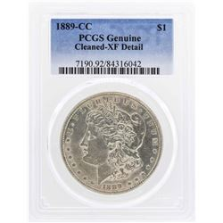 1889-CC $1 Morgan Silver Dollar Coin PCGS Genuine XF Details