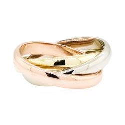 14KT Rose, White and Yellow Gold Rolling Ring