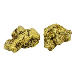 Lot of (2) Alaskan Gold Nuggets 10.45 Grams