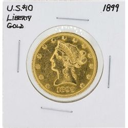 1899 $10 Liberty Head Eagle Gold Coin