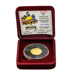1987 Walt Disney Rarities Mint 1/4 oz. .999 Fine Gold Coin