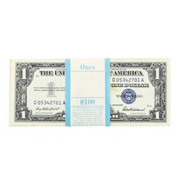 Pack of (100) Consecutive 1957 $1 Silver Certificate Notes