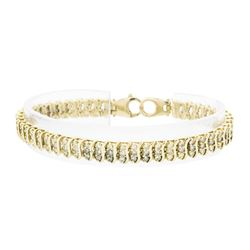 14KT Yellow Gold 4.70ctw Diamond Tennis Bracelet