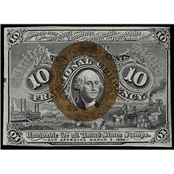 1863 Ten Cents Second Issue Fractional Currency Note