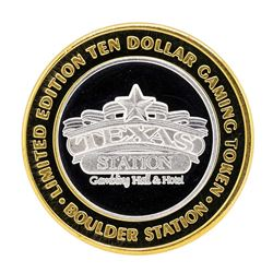 .999 Silver Boulder Station Hotel Casino Las Vegas, NV $10 Limited Casino Token
