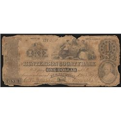 1859 $1 Hunterdon County Bank Obsolete Note