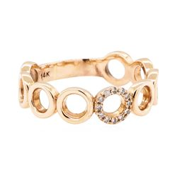 14KT Rose Gold 0.07ctw Diamond Ring