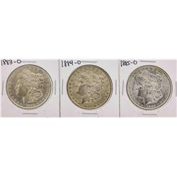 Set of 1883-O to 1885-O $1 Morgan Silver Dollar Coins
