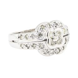 14KT White Gold 0.35ctw Diamond Ring