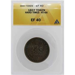 1837 Hard Times May Tenth Token ANACS XF40