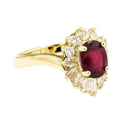 14KT Yellow Gold 1.86ct Ruby and Diamond Ring