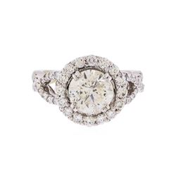 18KT White Gold 2.58ctw Brilliant Cut Diamond Engagement Ring