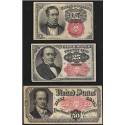 Set of 1874 10/25/50 Cent 5th Issue Fractional Notes