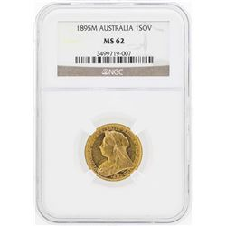 1895M Australia Sovereign Gold Coin NGC MS62