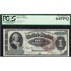 1886 $1 Martha Washington Silver Certificate Note Fr.219 PCGS Very Choice New 64