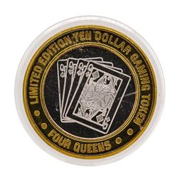 .999 Silver Four Queens Hotel & Casino Las Vegas, NV $10 Limited Edition Gaming