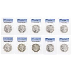 Lot of (10) 1904-O $1 Morgan Silver Dollar Coins PCGS MS63