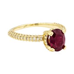 14KT Yellow Gold 1.67ct Ruby and Diamond Ring