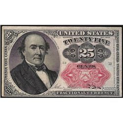1874 Twenty-Five Cent 5th Issue Fractional Note w/Personal Note