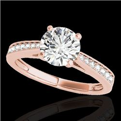 1.25 CTW H-SI/I Certified Diamond Solitaire Ring 10K Rose Gold - REF-158R2K - 35006