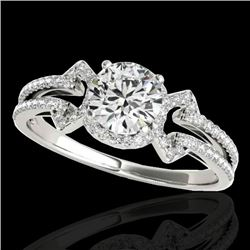 1.36 CTW H-SI/I Certified Diamond Solitaire Ring 10K White Gold - REF-169W3H - 35322