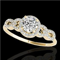 1.33 CTW H-SI/I Certified Diamond Solitaire Ring 10K Yellow Gold - REF-213A6V - 35315