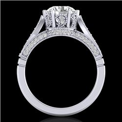 2.2 CTW VS/SI Diamond Art Deco Ring 18K White Gold - REF-725H5M - 37238