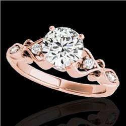 1.15 CTW H-SI/I Certified Diamond Solitaire Antique Ring 10K Rose Gold - REF-156W4H - 34811