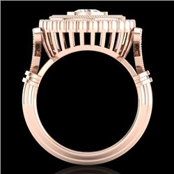 2.03 CTW VS/SI Diamond Solitaire Art Deco Ring 18K Rose Gold - REF-270A2V - 37080