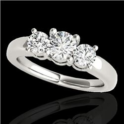 2 CTW H-SI/I Certified Diamond 3 Stone Solitaire Set 10K White Gold - REF-290A9V - 35439