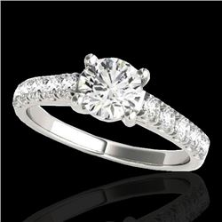 1.55 CTW H-SI/I Certified Diamond Solitaire Ring 10K White Gold - REF-207N3A - 35489