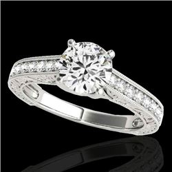 1.82 CTW H-SI/I Certified Diamond Solitaire Ring 10K White Gold - REF-339N3A - 34952