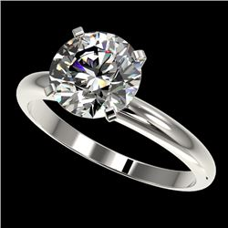 2.50 CTW Certified H-SI/I Quality Diamond Solitaire Engagement Ring 10K White Gold - REF-870H2M - 32