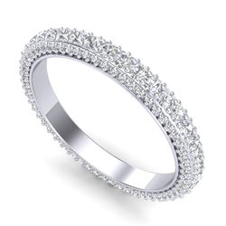 2.10 CTW VS/SI Diamond Art Deco Eternity Ring 18K White Gold - REF-161Y8X - 37211
