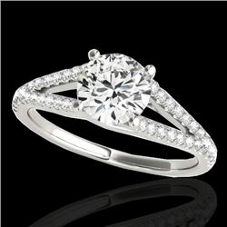 1.75 CTW H-SI/I Certified Diamond Solitaire Ring 10K White Gold - REF-337A5V - 35309