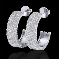 4.50 CTW Micro Pave VS/SI Diamond Certified Earrings 14K White Gold - REF-292N5A - 20174