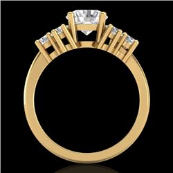 2.1 CTW VS/SI Diamond Solitaire Ring 18K Yellow Gold - REF-465Y2X - 36943