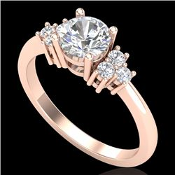 1 CTW VS/SI Diamond Ring Size 7 18K Rose Gold - REF-227N3A - 36936