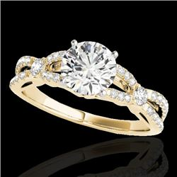 1.35 CTW H-SI/I Certified Diamond Solitaire Ring 10K Yellow Gold - REF-167K3W - 35225