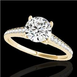 2 CTW H-SI/I Certified Diamond Solitaire Ring 10K Yellow Gold - REF-356N2A - 34855