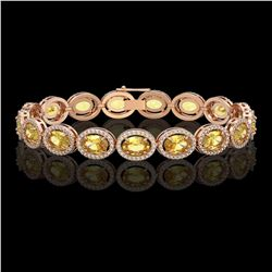 20.36 CTW Fancy Citrine & Diamond Bracelet Rose Gold 10K Rose Gold - REF-246K7W - 41037