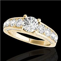 3.05 CTW H-SI/I Certified Diamond Solitaire Ring 10K Yellow Gold - REF-434H5M - 35518