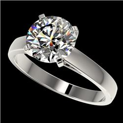 2.55 CTW Certified H-SI/I Quality Diamond Solitaire Engagement Ring 10K White Gold - REF-729X2R - 36