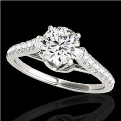 1.46 CTW H-SI/I Certified Diamond Solitaire Ring 10K White Gold - REF-204M5F - 34961