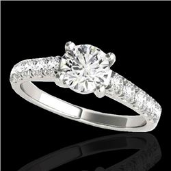 2.1 CTW H-SI/I Certified Diamond Solitaire Ring 10K White Gold - REF-402W7H - 35498