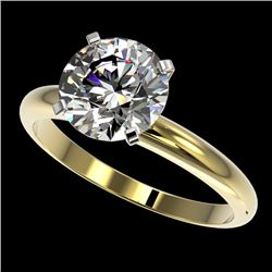 2.50 CTW Certified H-SI/I Quality Diamond Solitaire Engagement Ring 10K Yellow Gold - REF-870X2R - 3