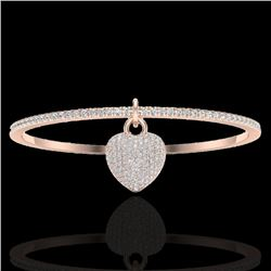 3.50 CTW Eternity Micro Pave VS/SI Diamond Eternity Bangle 14K Rose Gold - REF-259H6M - 20036