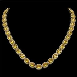 46.39 CTW Fancy Citrine & Diamond Necklace Yellow Gold 10K Yellow Gold - REF-553H6M - 40990