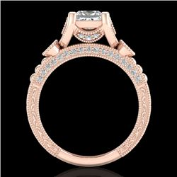 1.75 CTW Princess VS/SI Diamond Art Deco Ring 18K Rose Gold - REF-445M5F - 37149